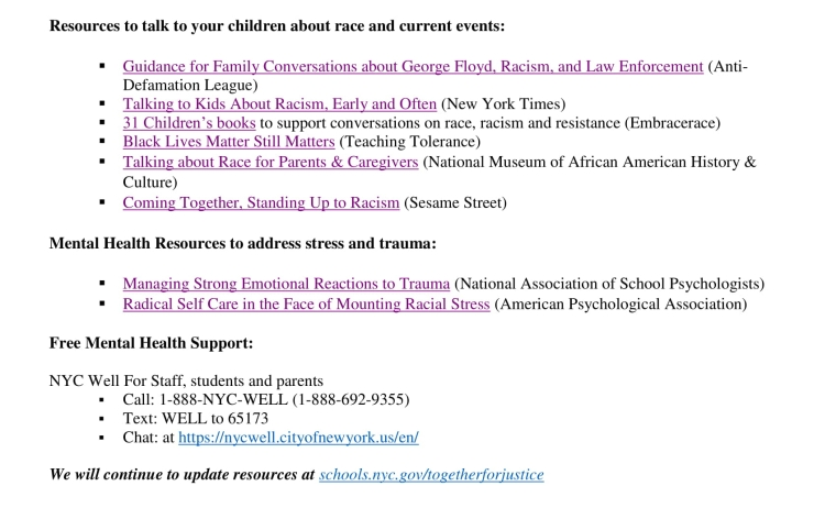 Resources to talk to your children about race.