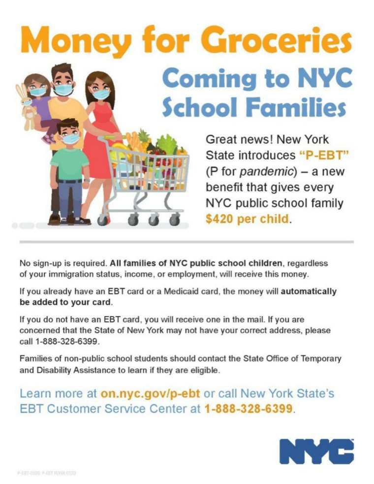 Money for Families - P-EBT Card Information-1